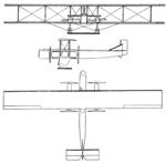Farman F.140 Super Goliath 3-view Les Ailes February 26, 1926.png