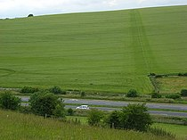 Farmland and the A303, Deptford - geograph.org.uk - 475825.jpg