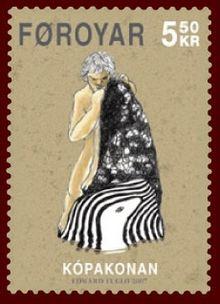 Faroese stamp 578 the seal woman.jpg