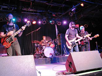 Fastball (band) - Fastball live in Chicago in November 2008. From left to right: Miles Zuniga, Joey Shuffield, Tony Scalzo and an unidentified touring musician.