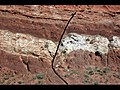 Fault in redbeds (Chugwater Formation, Upper Triassic; Red Hill, Seminoe Mountains, Wyoming, USA) 4.jpg