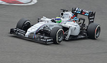 Massa pilote sa Williams blanche.