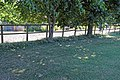 Fence and lawn at Gaston Green, Little Hallingbury, Essex, England 02.jpg