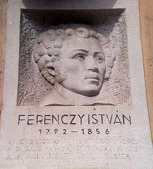 István Ferenczy - Reflief of István Ferenczy on the corner of Magyar utca/ Ferenczy István utca in Budapest, District V.