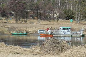 Ferry Chojno across the Warta.JPG