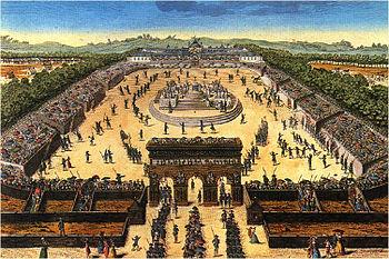 Fête de la Fédération, le 14 juillet 1790 au Champ-de-Mars