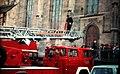 Feuerwehrübung auf dem Holzmarkt in Tübingen um 1975.JPG