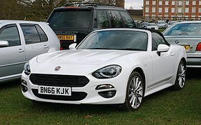 Fiat 124 Spider 1368cc registered September 2016.jpg
