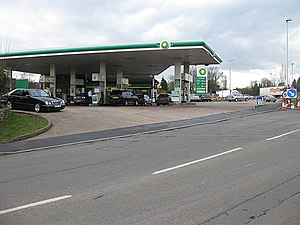 November 2017 United Kingdom budget - Image: Filling station off the A40 roundabout geograph.org.uk 1169731