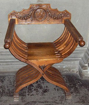 Faldstool - Faldstool displayed at Palazzo Vecchio in Florence, Italy
