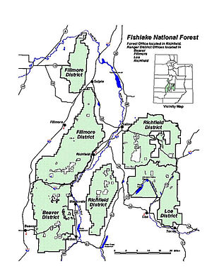 Fishlake National Forest - Wikipedia on louisiana maps, hoosier national forest hiking maps, inyo national forest maps, chippewa national forest maps, great smoky mountains national park maps, beaverhead-deerlodge national forest maps, cleveland national forest maps, hiawatha national forest maps, wayne national forest maps, malheur national forest maps, uncompahgre national forest maps, plumas national forest maps, talladega national forest hunting maps, shawnee national forest hunting maps, dixie national forest maps, chattahoochee national forest maps, bankhead national forest trail maps, sam houston national forest hiking maps, george washington national forest maps, tahoe national forest maps,