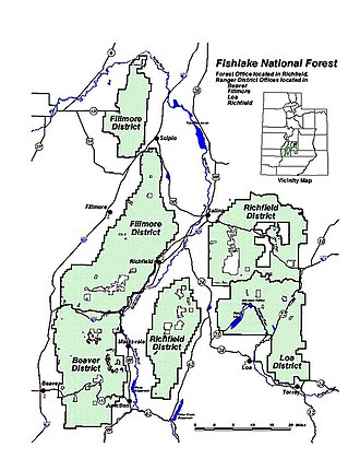 Fishlake National Forest - Fishlake National Forest map