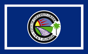 Coconut Creek, Florida - Image: Flag of Coconut Creek, Florida