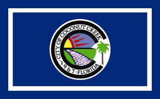 Coconut Creek, Florida - Image: Flag of Coconut Creek, Florida