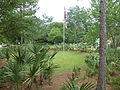 Flagpole and sabal at Jefferson County rest area.JPG