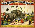 Flickr - …trialsanderrors - Terrific flights over ponderous elephants, poster for Forepaugh ^ Sells Brothers, ca. 1899.jpg