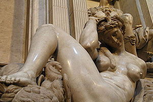 Night (Michelangelo) - Original statue in Florence