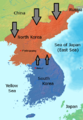 Flow of the Korean Wave across the North Korean border.png