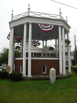 Hamlet of Warrensburgh Historic District - Floyd Bennett Park Bandstand, August 2010