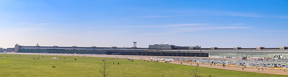Panorama of the old Berlin airport