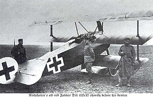Manfred von Richthofen - Richthofen's all-red Fokker Dr.I