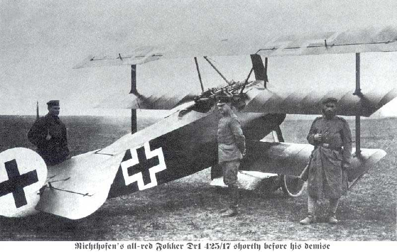 Fokker Dr1 on the ground