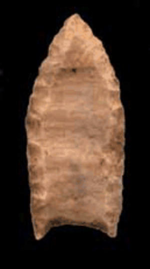 Paleo-Indians - Folsom projectile point.