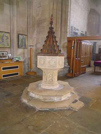 Church of St Mary the Virgin, Ashwell - The Victorian baptismal font