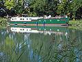 Fontet, Gironde, Canal latéral à la Garonne, la péniche Silène (3).JPG