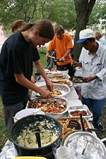 Food Not Bombs aims to serve vegetarian food.
