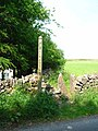 Footpath and squeeze stile by Barn House - geograph.org.uk - 198584.jpg