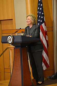 Former Secretary of State Clinton Delivers Remarks at Groundbreaking Ceremony of the U.S. Diplomacy Center (14943786999).jpg