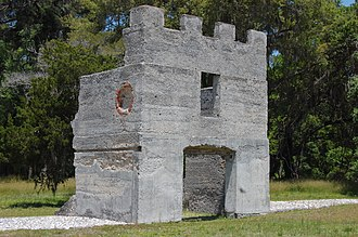 Fort Frederica National Monument - Image: Fort Fred Barracks