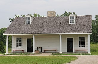Fort Howard (Wisconsin) - Image: Fort Howard Company Kitchen and Orderly Room Heritage Hill State Historical Park