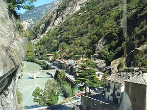 Bard, Aosta Valley - Bard lies within a steep-sided gorge within the Aosta Valley.