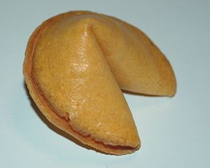 American Chinese cuisine - An unopened fortune cookie