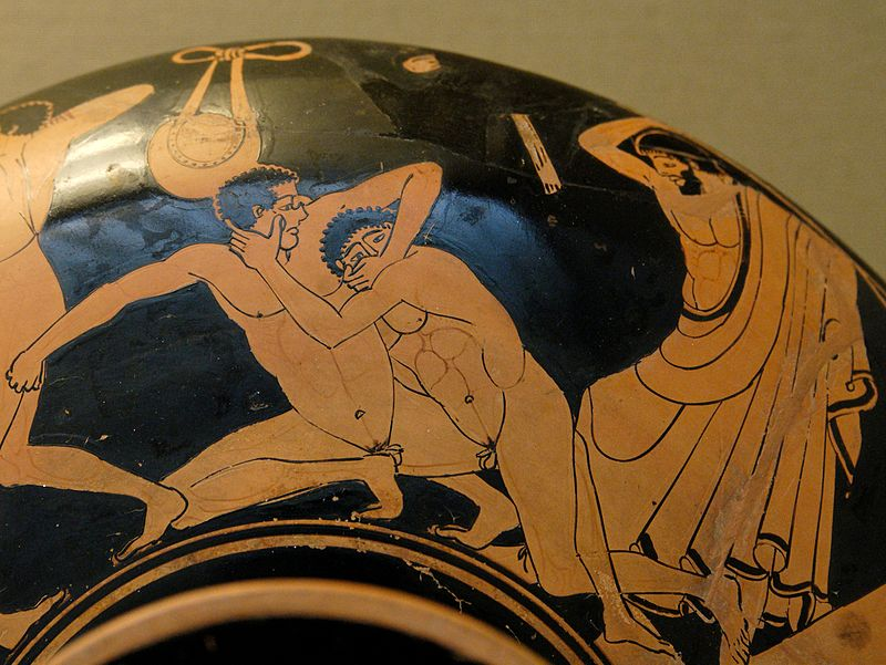 Foul pankration at Kylix by the Foundry Painter BM VaseE78.jpg