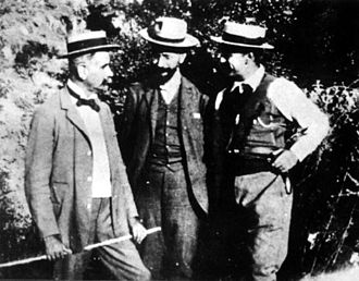 Cretan State - Venizelos with his partners Foumis and Manos in Theriso