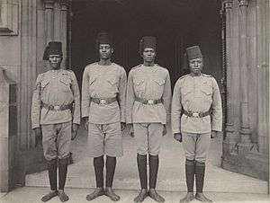 Askari - Soldiers of the King's African Rifles at the coronation of Edward VII in 1902