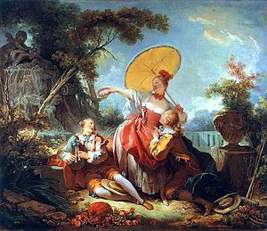 1755 in art - Fragonard, Musical Contest