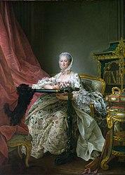 François-Hubert Drouais: Madame de Pompadour à son métier à broder