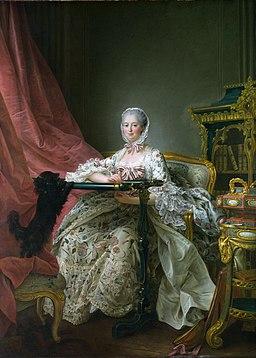François-Hubert DROUAIS 1763-4. London NG. Madame de Pompadour at her Tambour Frame.
