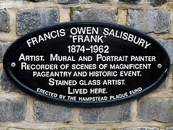 Francis owen salisbury   hampsted plaque fund