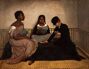 Race and ethnicity in Latin America - The Three Races or Equality before the Law, ca. 1859, Francisco Laso