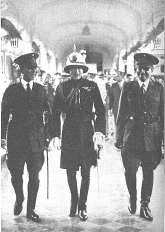 Francisco Reynolds Baker - Francisco Baker (right) with the Prince of Wales, in his visit to the Military College