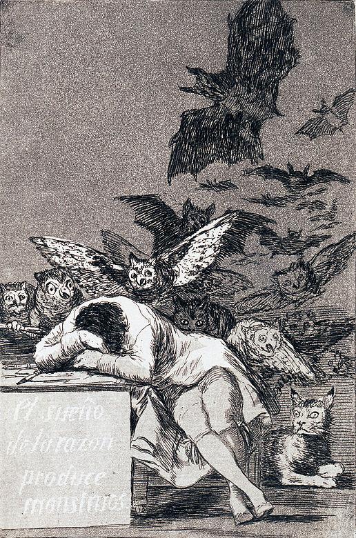 """""""Le sommeil de la raison engendre des monstres"""" de Goya."""