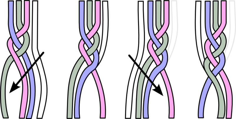 File French Braid Graphic Png Wikimedia Commons