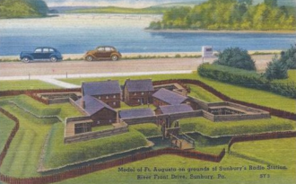 Fort Augusta - Model of Fort Augusta, 1939.