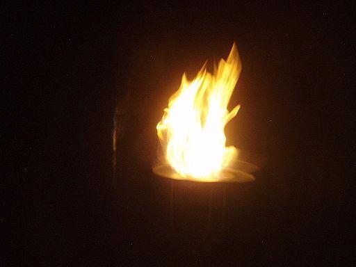"""Fuego en la ceremonia de la cena del solsticio de invierno (Muy Resp.'. Gr.'. Log.'. Nacional Mexicana """"Independencia No. 2"""")"""