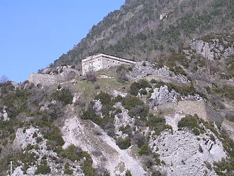 Biescas - Military fort in Santa Elena, ordered by King Philip II